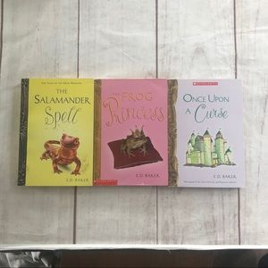 Lot of 3 Princess Books E D Baker Frog Princess